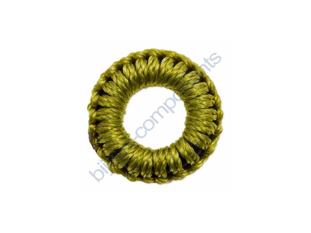 Obšívaný gumový kroužek - zelený
