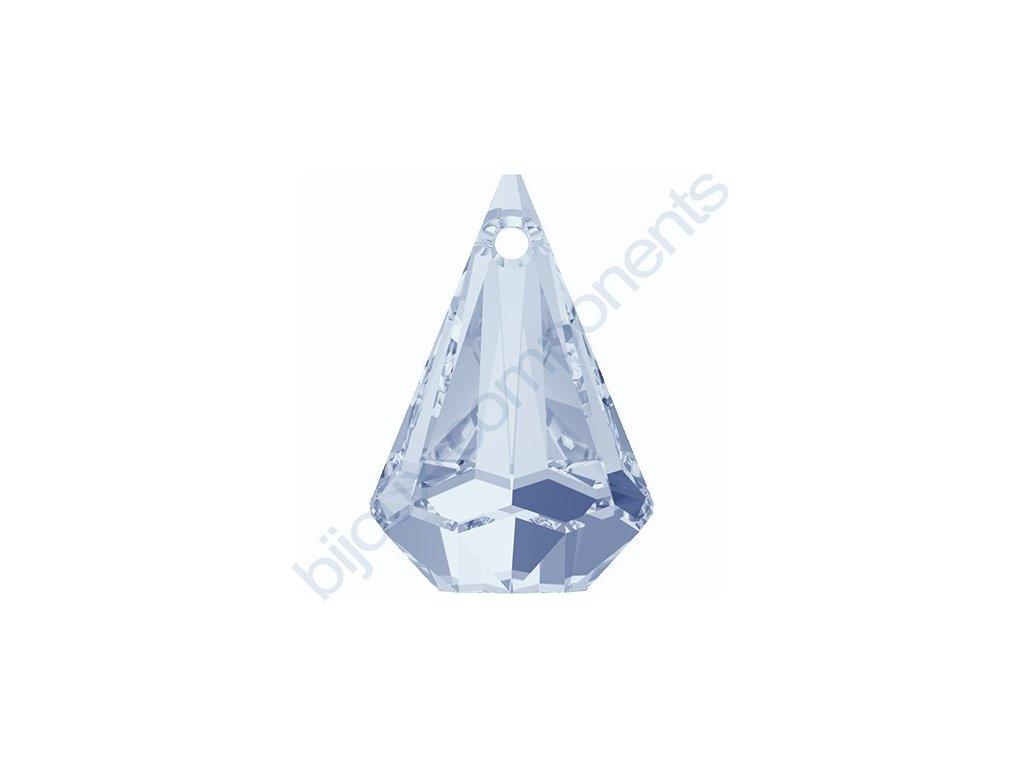 SWAROVSKI ELEMENTS přívěsek - XIRIUS dešťová kapka, crystal blue shade, 14mm