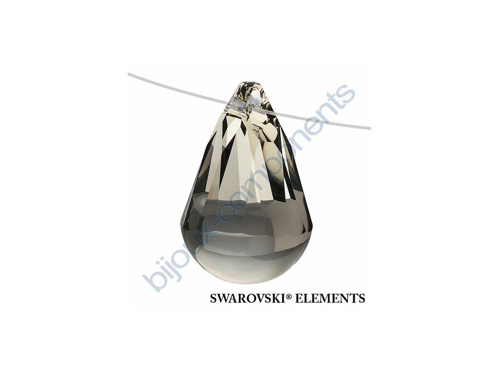 SWAROVSKI ELEMENTS přívěsek - Cabochette, black diamond, 13mm