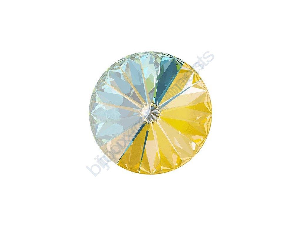 SWAROVSKI CRYSTALS kameny - Rivoli Chaton, crystal sunshine, 12mm