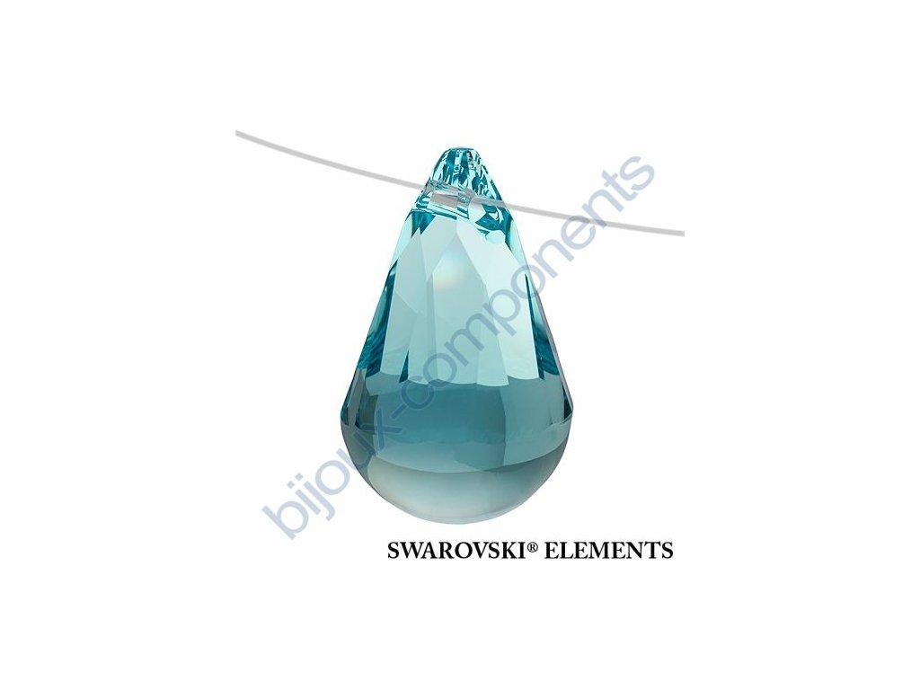 SWAROVSKI ELEMENTS přívěsek - Cabochette, light turquoise, 13mm