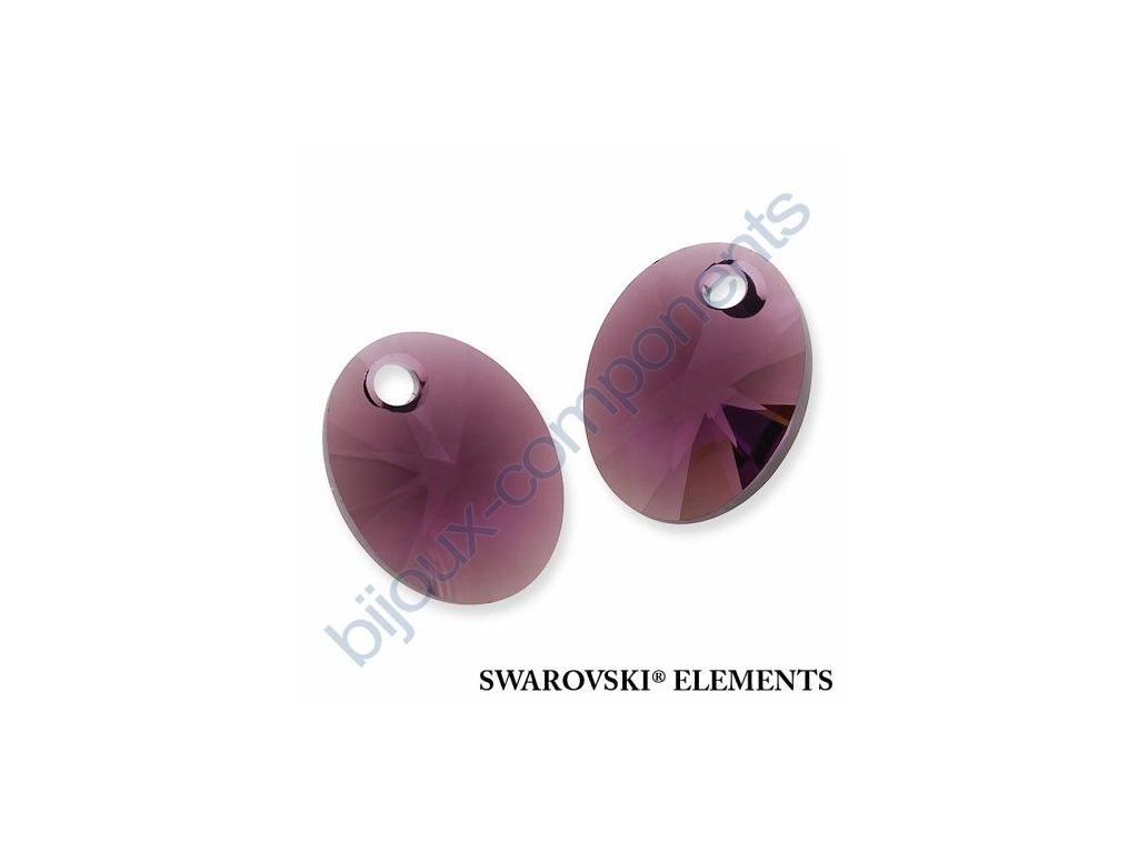 SWAROVSKI ELEMENTS přívěsek - XILION ovál, amethyst, 12mm