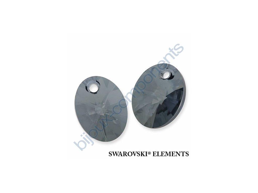 SWAROVSKI ELEMENTS přívěsek - XILION ovál, crystal blue shade, 12mm