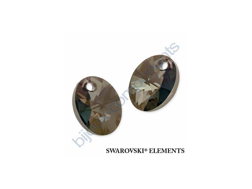 SWAROVSKI ELEMENTS přívěsek - XILION ovál, crystal iridescent green, 12mm