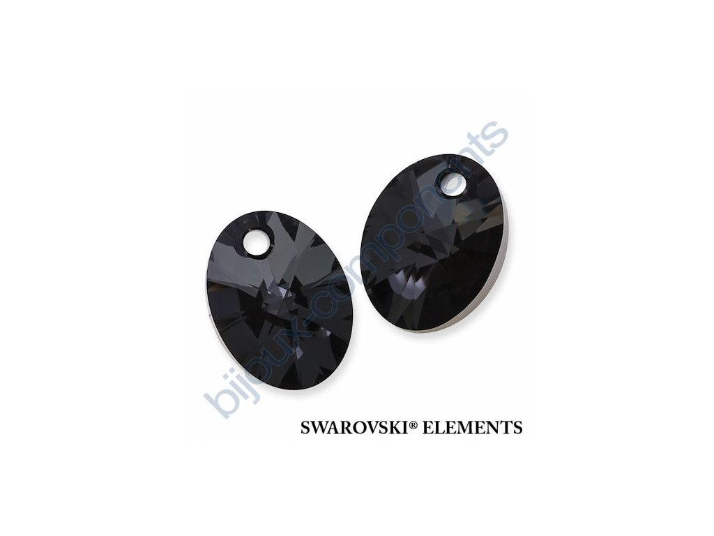 SWAROVSKI ELEMENTS přívěsek - XILION ovál, crystal silver night, 12mm