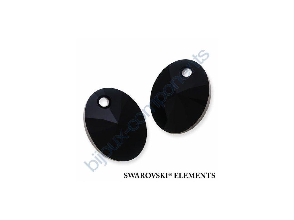 SWAROVSKI ELEMENTS přívěsek - XILION ovál, jet, 12mm