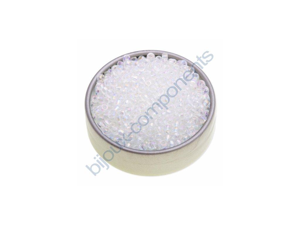 PRECIOSA rokajl - krystal/duhový pokov, 6/0 cca 4mm