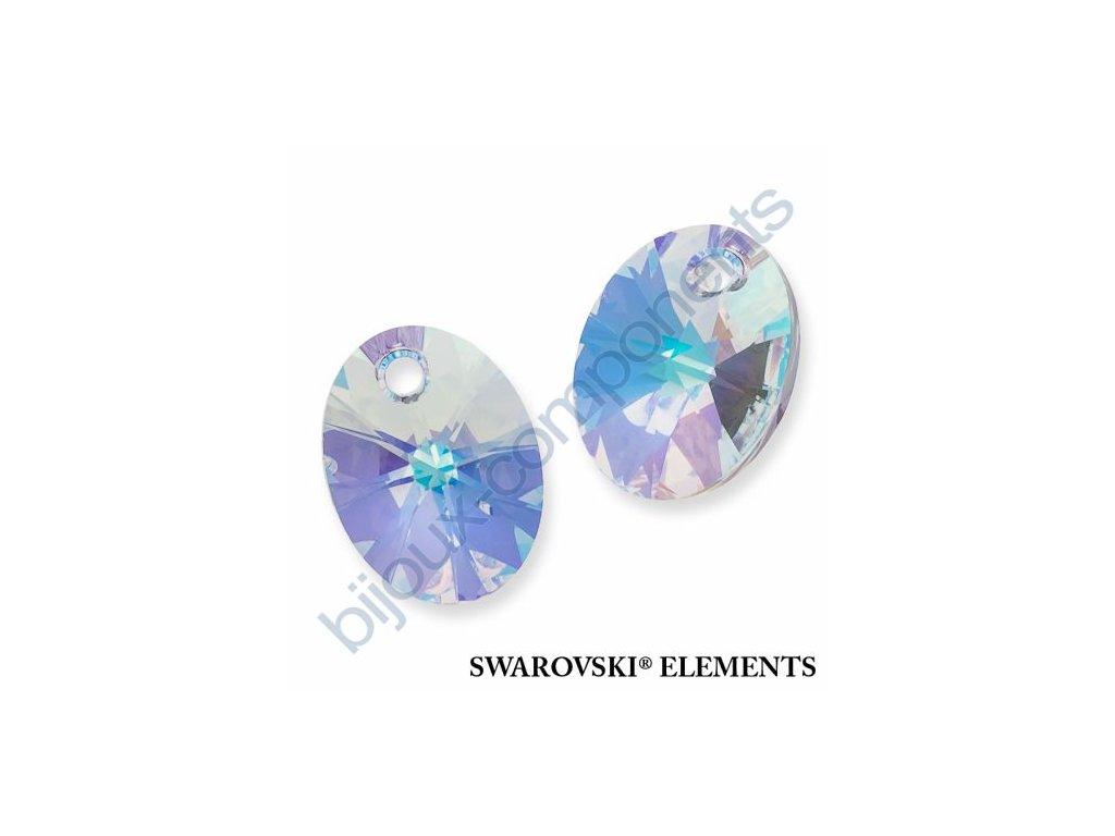 SWAROVSKI ELEMENTS přívěsek - XILION ovál, crystal AB, 18mm