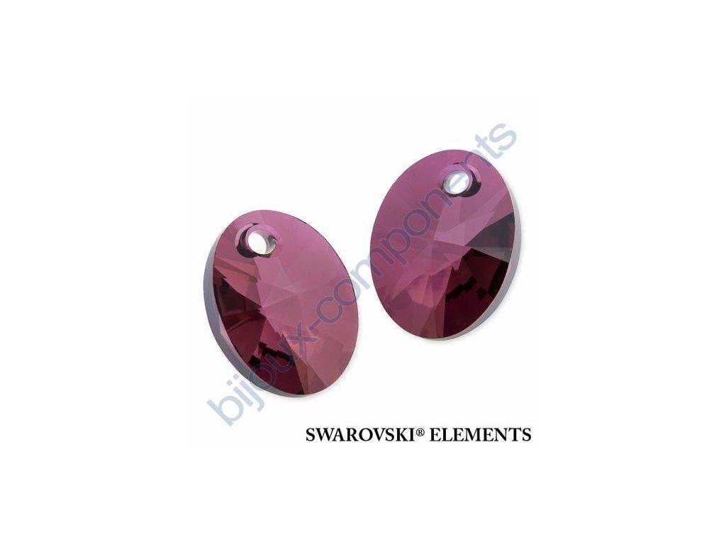 SWAROVSKI ELEMENTS přívěsek - XILION ovál, crystal lilac shadow, 18mm
