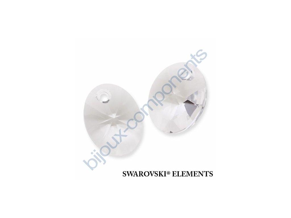 SWAROVSKI ELEMENTS přívěsek - XILION ovál, crystal, 18mm