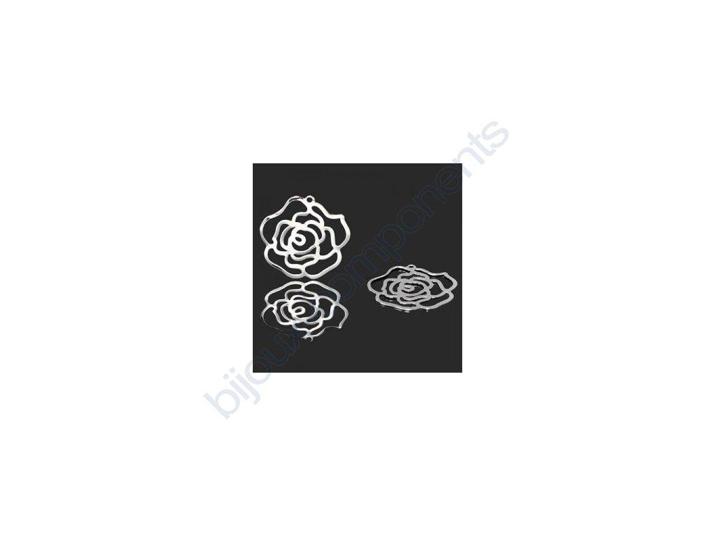 Přívěsek růže cca 25mm