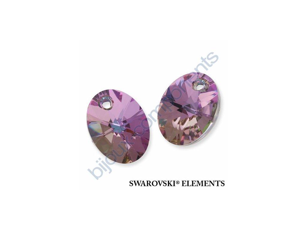 SWAROVSKI ELEMENTS přívěsek - XILION ovál, crystal VL, 18mm