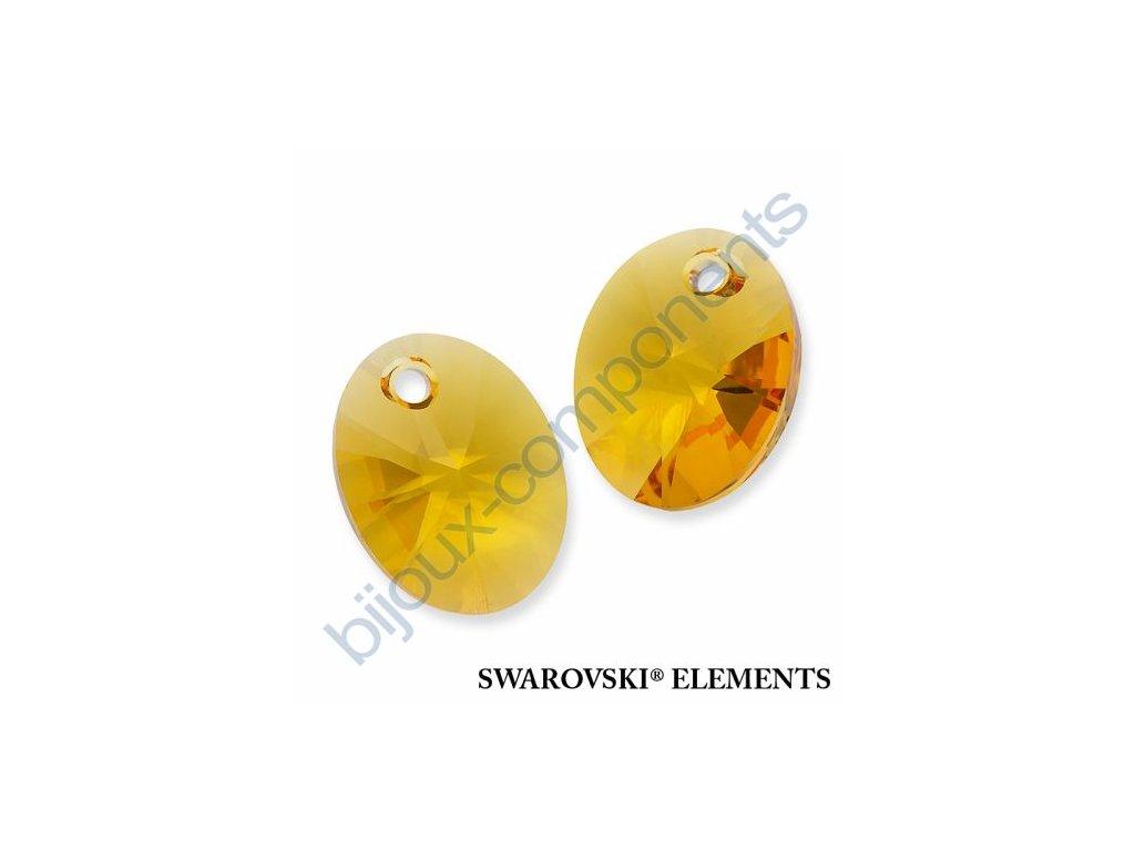 SWAROVSKI ELEMENTS přívěsek - XILION ovál, sunflower, 18mm