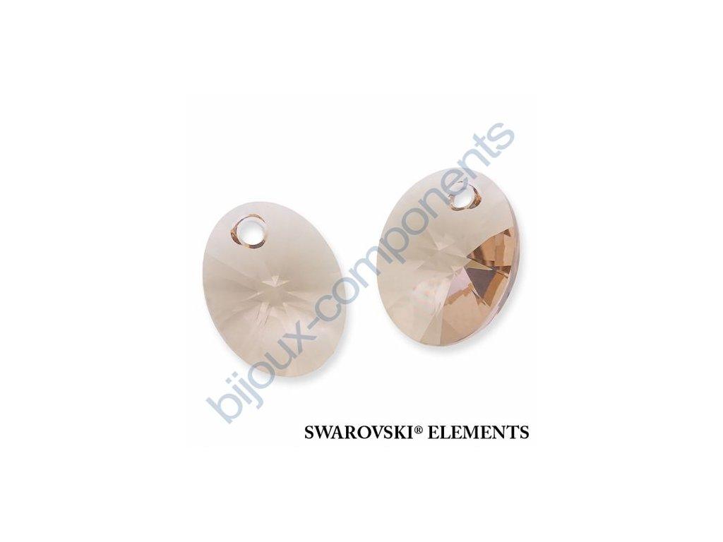 SWAROVSKI ELEMENTS přívěsek - XILION ovál, light silk, 10mm