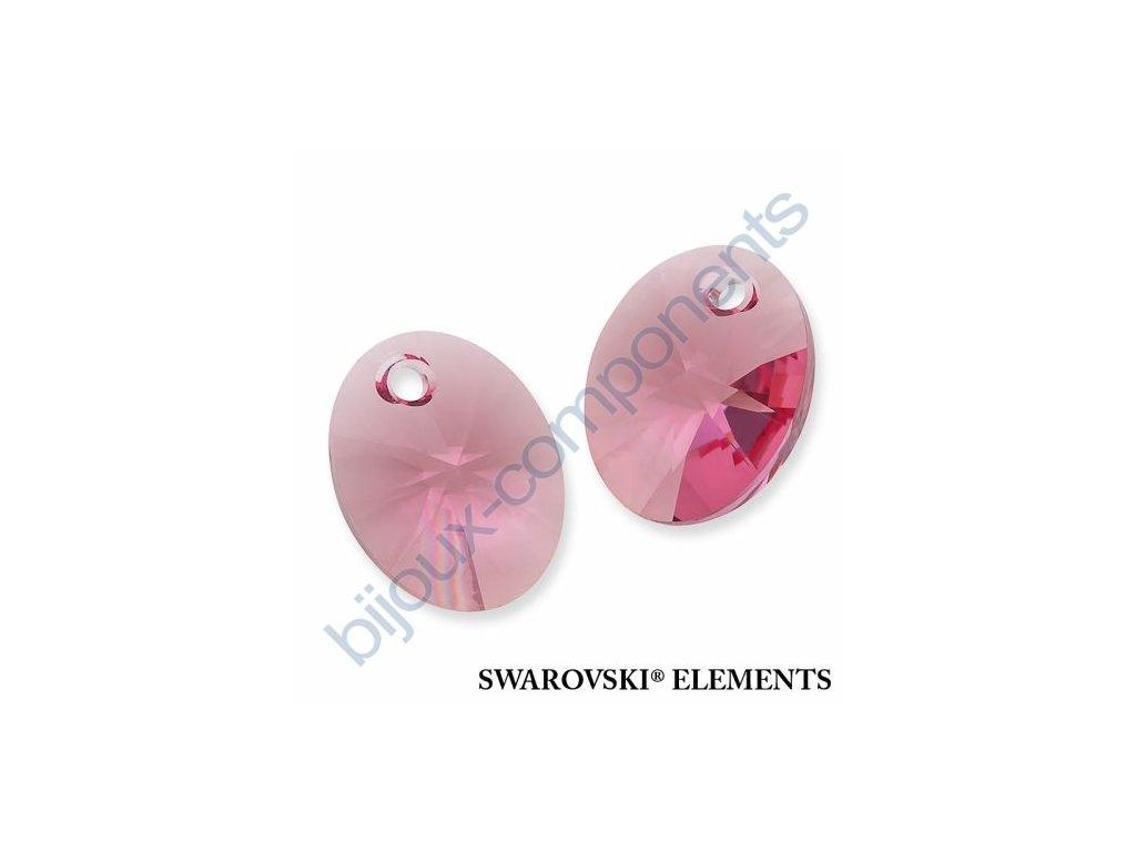SWAROVSKI ELEMENTS přívěsek - XILION ovál, rose, 10mm