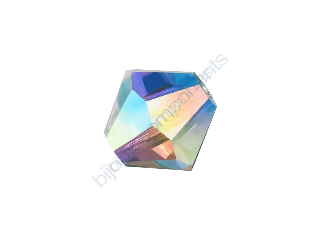 PRECIOSA - MC Bead Rondelle, Crystal AB, cca 3mm