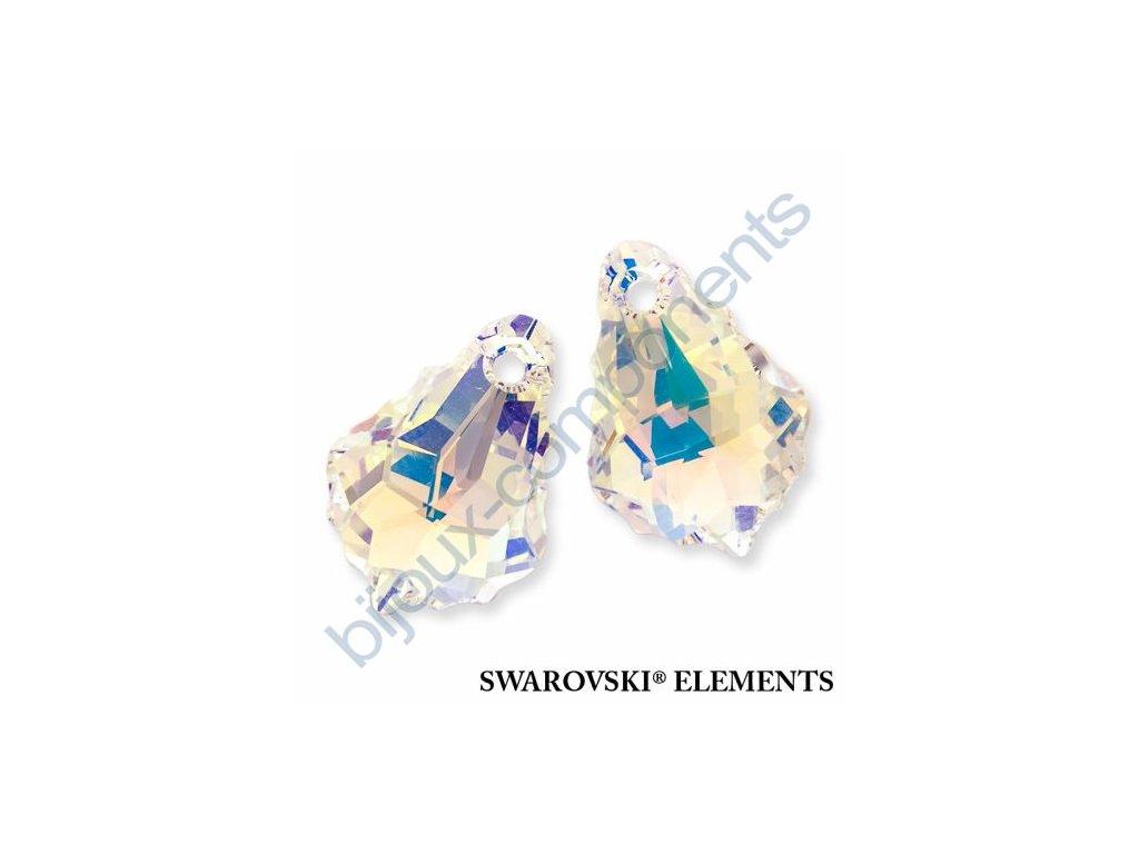SWAROVSKI CRYSTALS přívěsek - barokní přívěsek, crystal AB, 22x15mm
