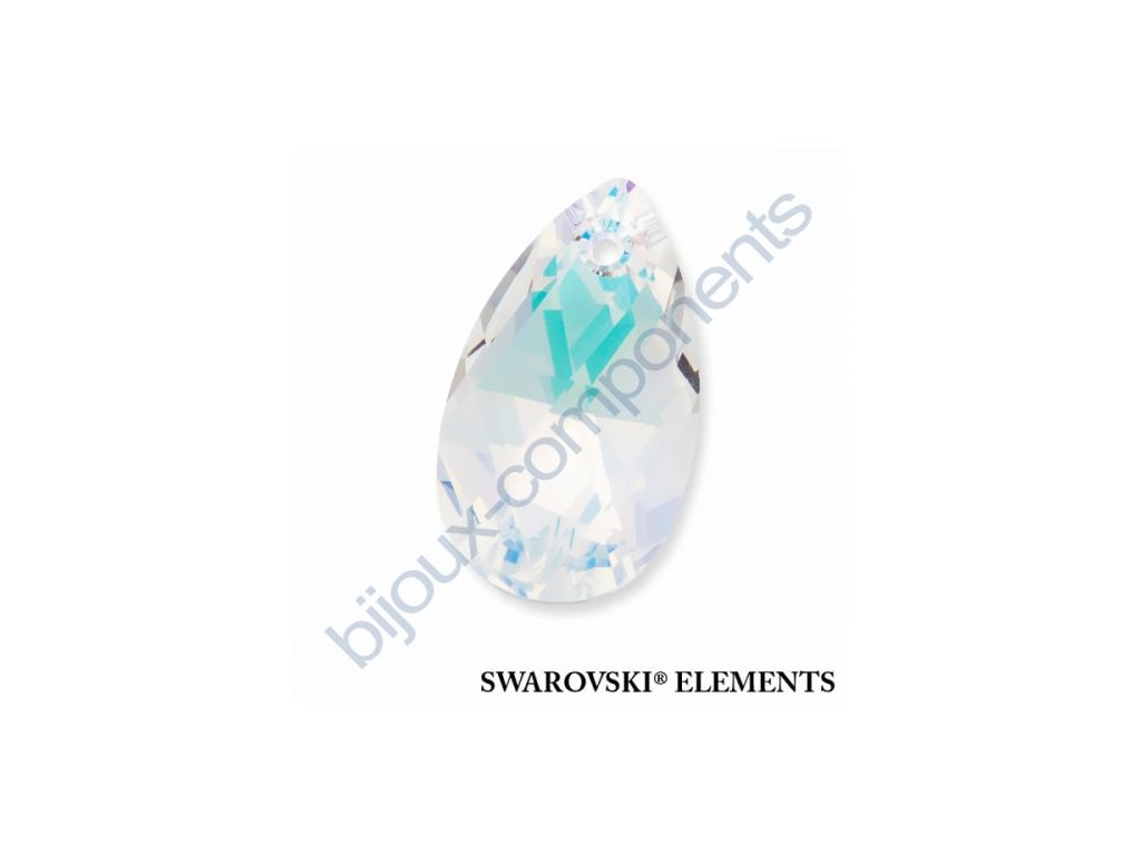 SWAROVSKI ELEMENTS přívěsek - hruška, crystal AB, 16mm