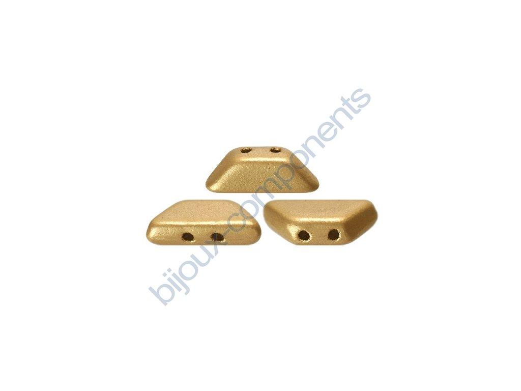 Tinos par Puca, Light Gold Mat, 10x4mm, 12ks