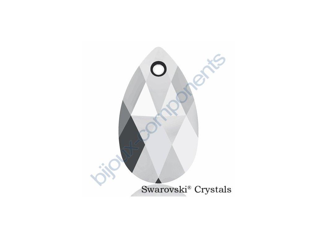 SWAROVSKI CRYSTALS přívěsek - hruška, crystal light chrome, 16mm