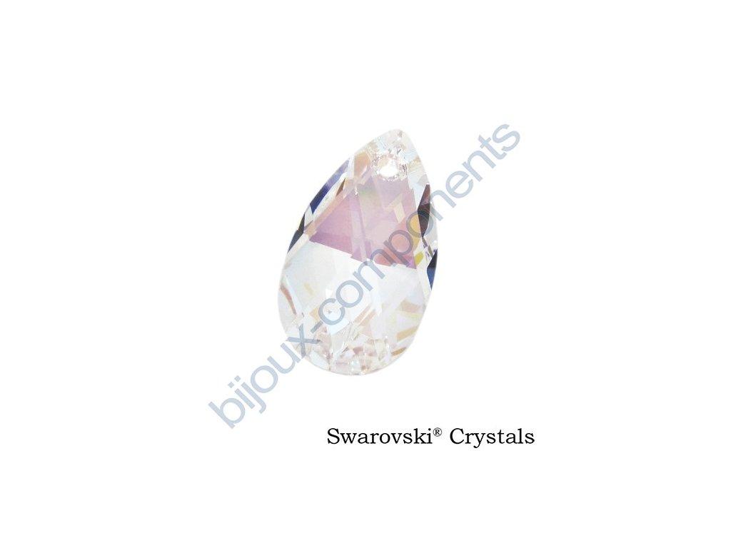SWAROVSKI CRYSTALS přívěsek - hruška, crystal shimmer, 16mm