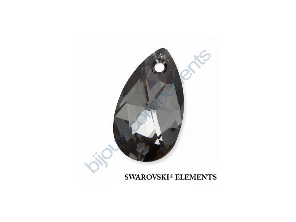 SWAROVSKI ELEMENTS přívěsek - hruška, crystal silver night, 16mm