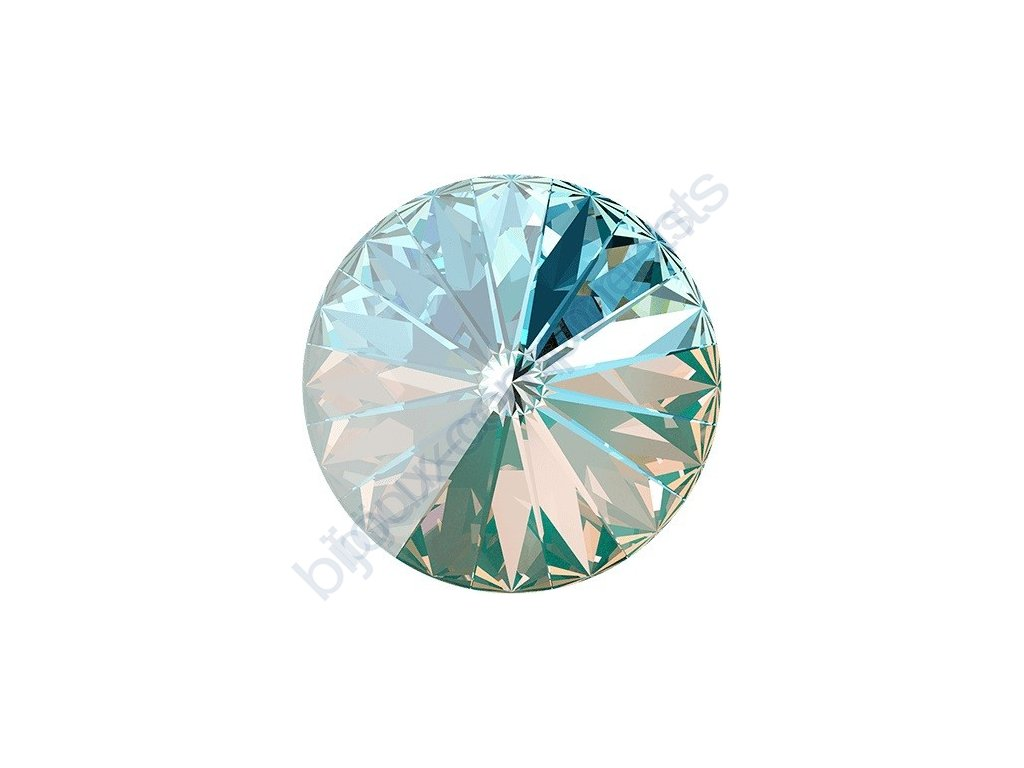 SWAROVSKI CRYSTALS kameny - Rivoli, crystal laguna, 14mm