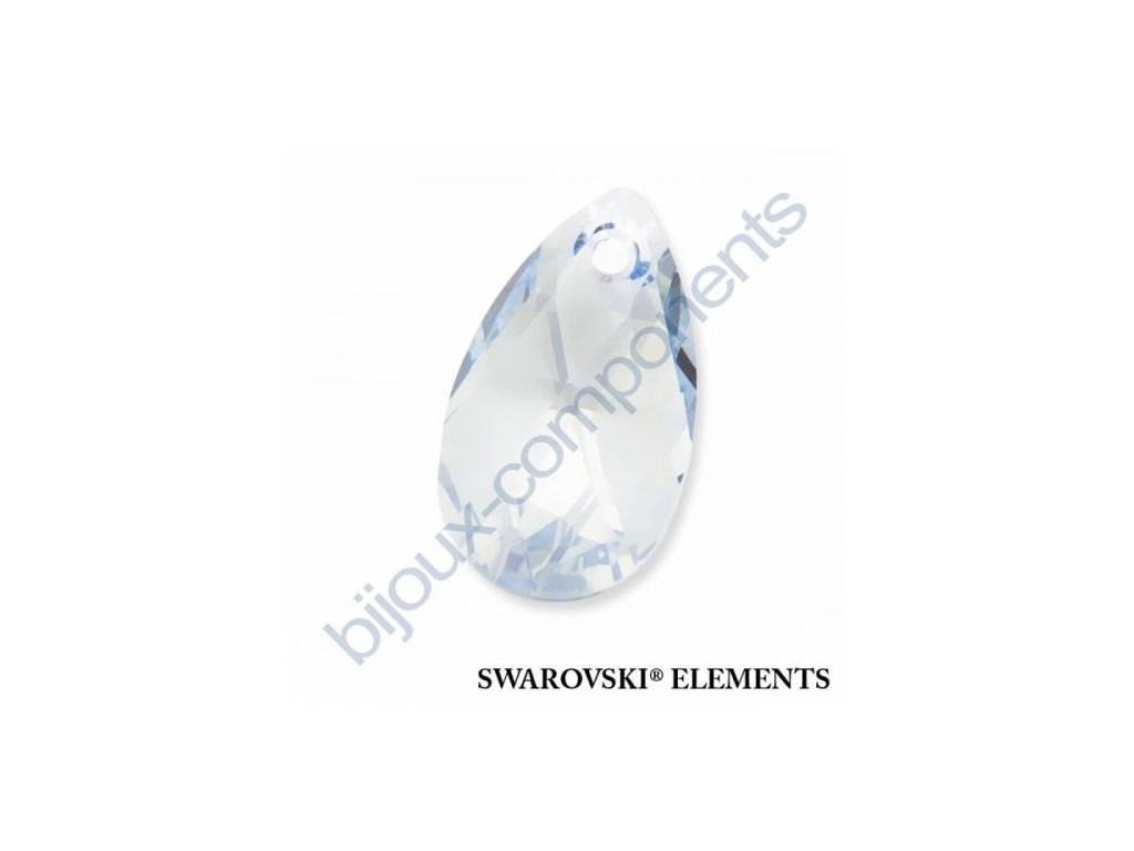 SWAROVSKI ELEMENTS přívěsek - hruška, crystal blue shade, 22mm