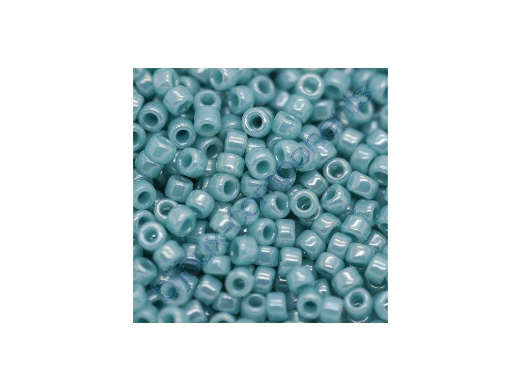 TOHO rokajl, Opaque Lustered Turquoise, vel.3,1 mm, průtah 1,3 mm