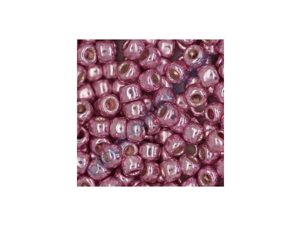 TOHO rokajl, Permanent-Finish-Galvanized Pink Lilac, vel.3,1 mm, průtah 1,3 mm