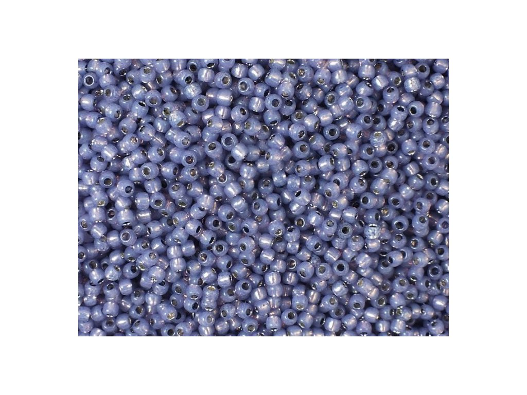 TOHO rokajl, Silver-Lined Milky Lavender, vel.3,1 mm, průtah 1,3 mm