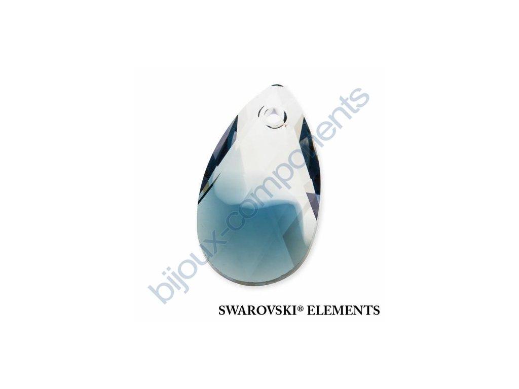 SWAROVSKI ELEMENTS přívěsek - hruška, crystal - montana blend, 22mm