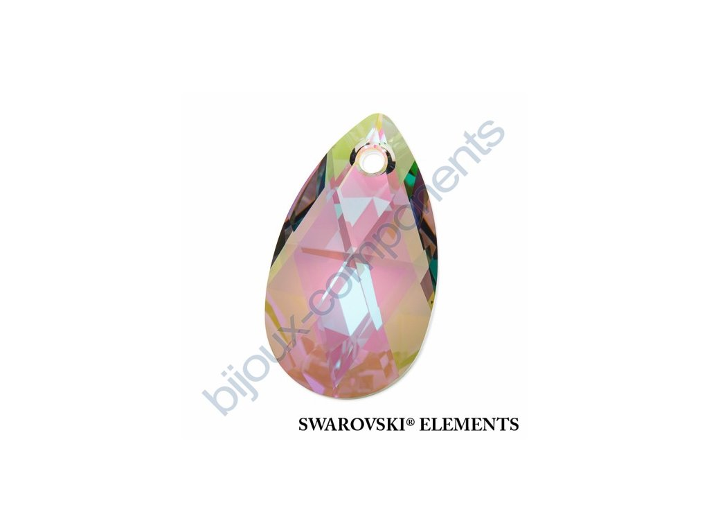 SWAROVSKI ELEMENTS přívěsek - hruška, crystal paradise shine, 22mm