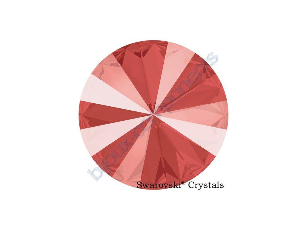 SWAROVSKI CRYSTALS kameny - Rivoli, crystal light coral, 14mm