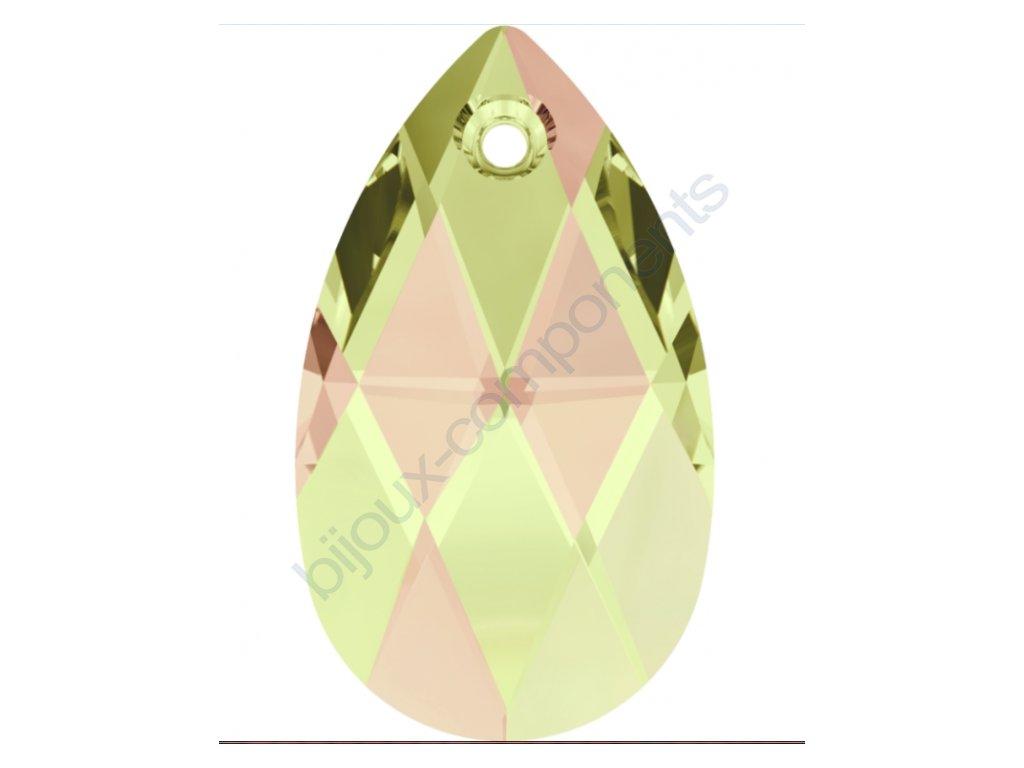 SWAROVSKI CRYSTALS přívěsek - hruška, crystal luminous green, 22mm