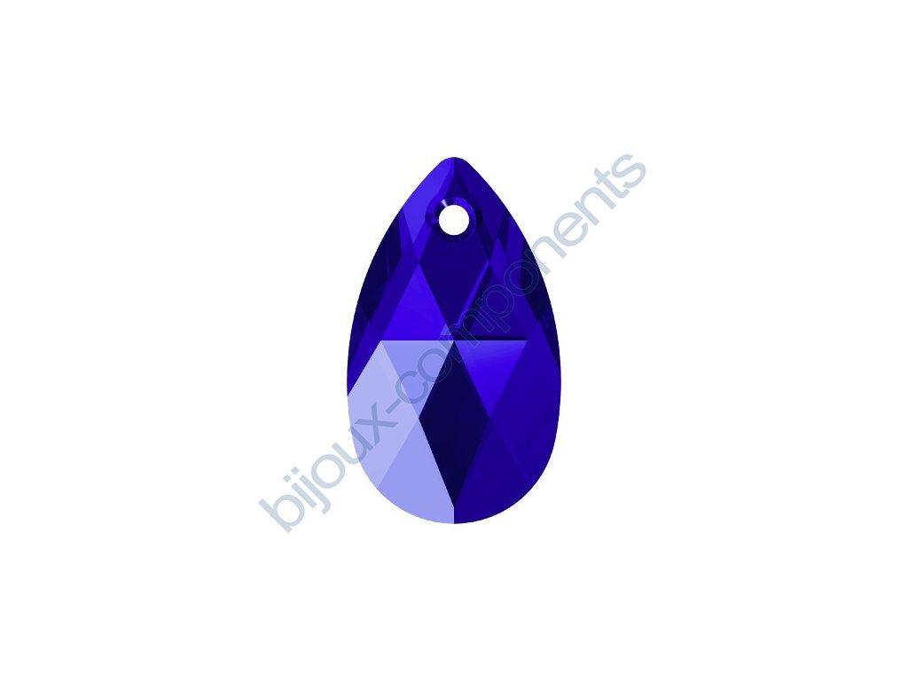 SWAROVSKI CRYSTALS přívěsek - hruška, majestic blue, 22mm