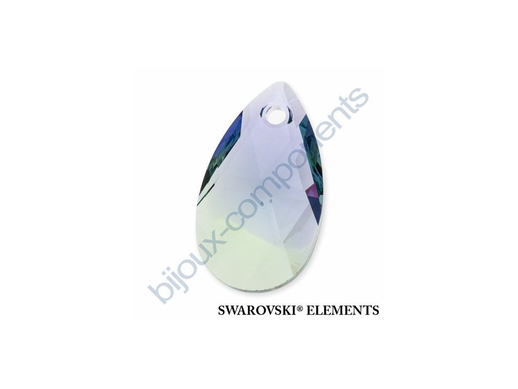 SWAROVSKI ELEMENTS přívěsek - hruška, provence lavender - chrysolite blend, 22mm