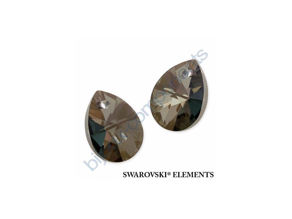 SWAROVSKI ELEMENTS přívěsek - XILION hruška (mini), crystal iridescent green, 10mm