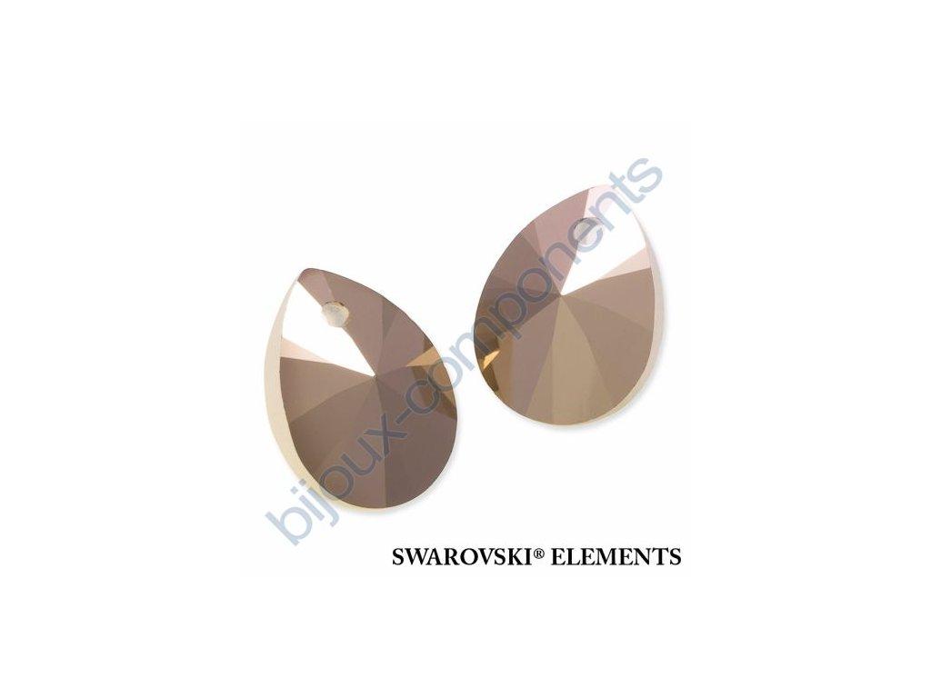 SWAROVSKI ELEMENTS přívěsek - XILION hruška (mini), crystal rose gold 2x, 10mm