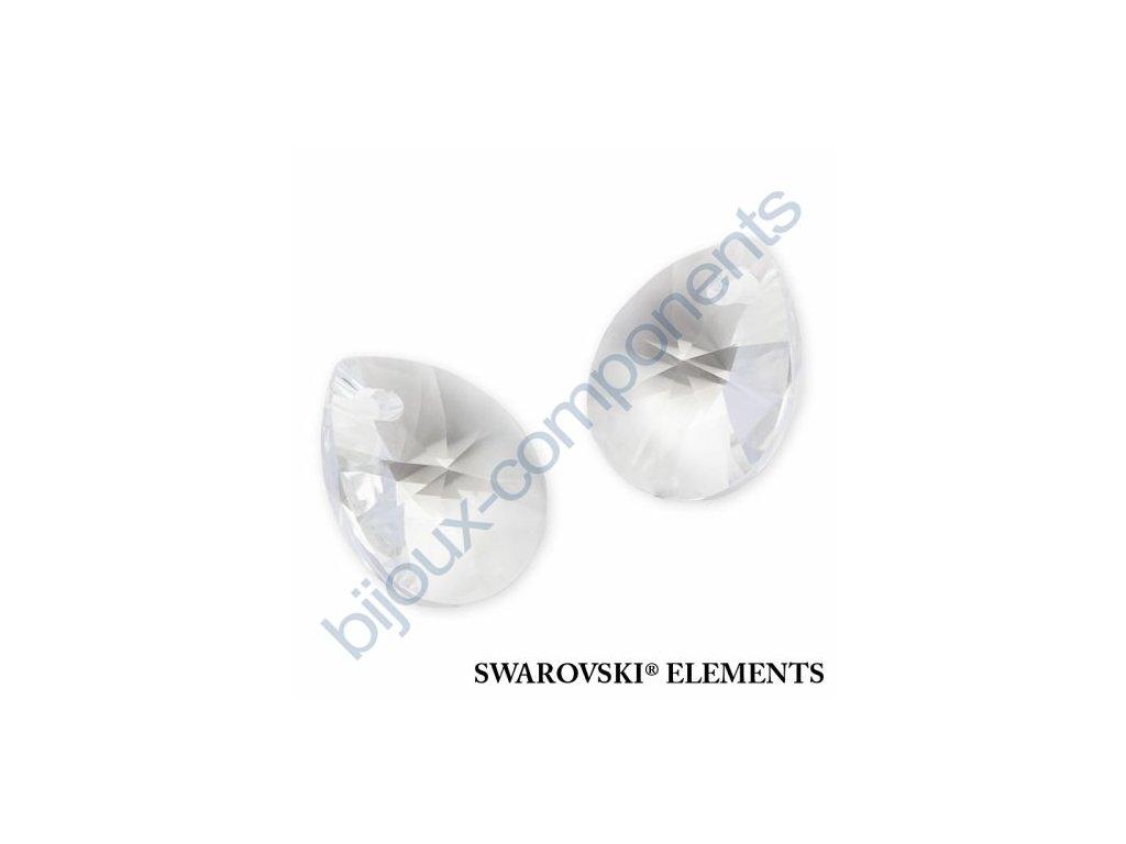 SWAROVSKI ELEMENTS přívěsek - XILION hruška (mini), crystal, 10mm