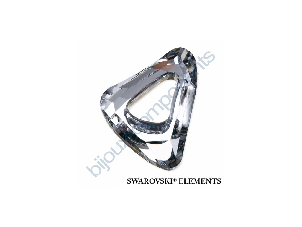Swarovski Crystals tvarovka - Organic Cosmic trojúhelník, crystal CAL, 14mm