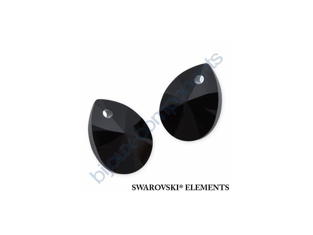 SWAROVSKI ELEMENTS přívěsek - XILION hruška (mini), jet, 10mm