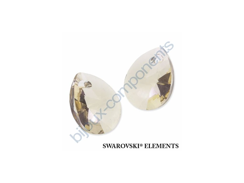 SWAROVSKI ELEMENTS přívěsek - XILION hruška (mini), light silk, 10mm