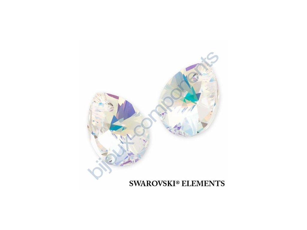 SWAROVSKI ELEMENTS přívěsek - XILION hruška (mini), crystal AB, 12mm