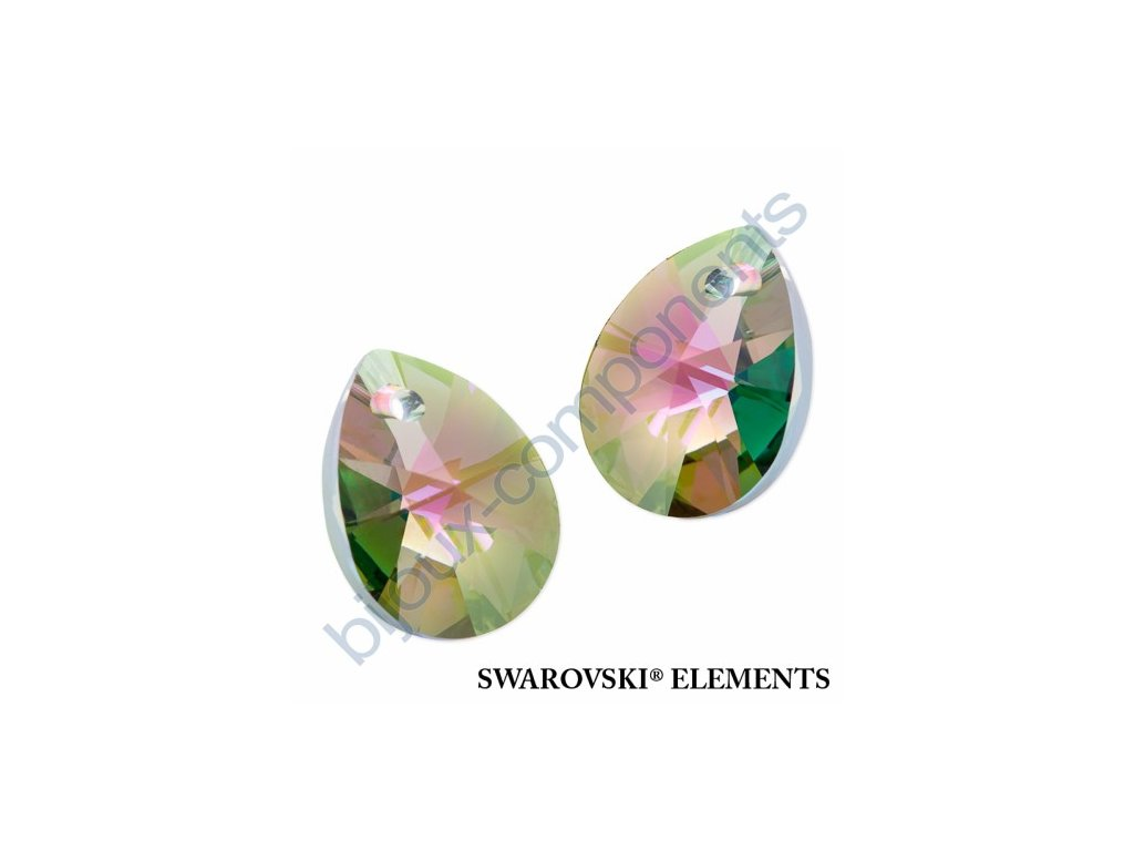 SWAROVSKI ELEMENTS přívěsek - XILION hruška (mini), crystal paradise shine, 12mm