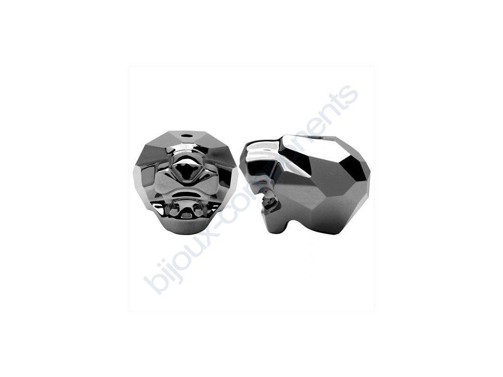 Korálky Swarovski Crystals - Panther, crystal silvernight, 19mm