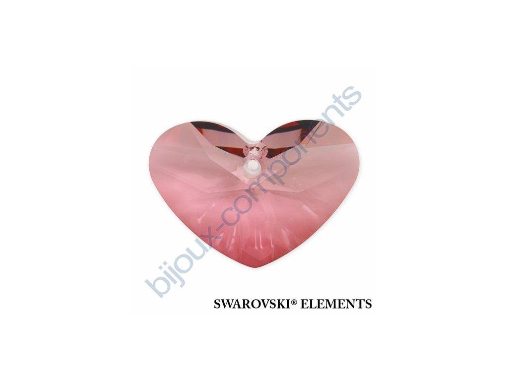 SWAROVSKI ELEMENTS přívěsek - Crazy 4 U Heart, crystal antique pink, 27mm