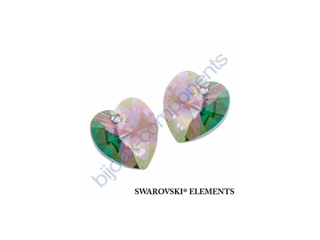 SWAROVSKI ELEMENTS přívěsek - XILION srdce, crystal paradise shine, 14,4x14mm