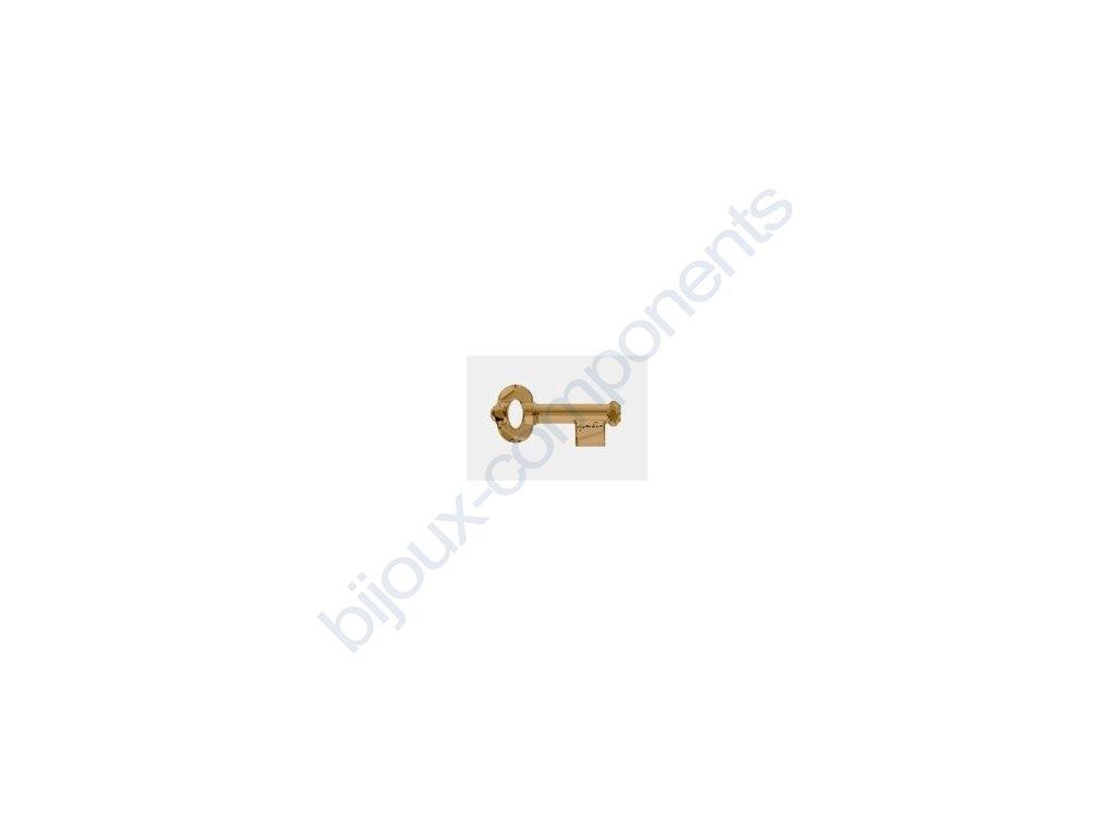 SWAROVSKI ELEMENTS přívěsek - klíč, crystal bronze shade s podpisem Yoko Ono, 50mm