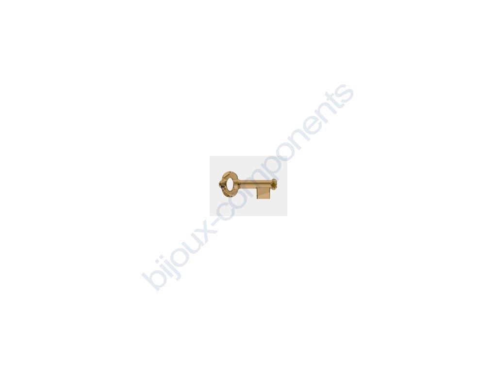 SWAROVSKI ELEMENTS přívěsek - klíč, crystal bronze shade, 30mm